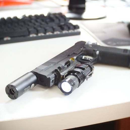 Download free 3D print files Taclight/Flashlight Holder for 22mm Picatinny Rail (Airsoft), JoshRC