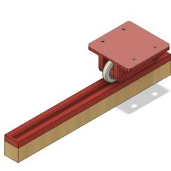Télécharger fichier imprimante 3D gratuit Tiroir ouvert - un système de chariot à rail guidé - Édition à rouleaux, JoshRC