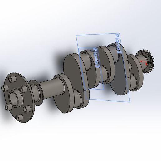 Download free STL file Crankshaft Engine Continental Aviation • 3D printer model, brianwidder