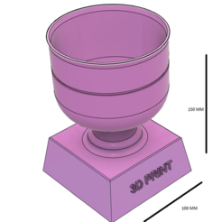 Captura.PNG Download STL file CUP • 3D printing template, brianwidder