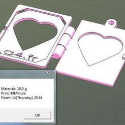 Download free 3D printer designs Carte St Valentin, Etienne