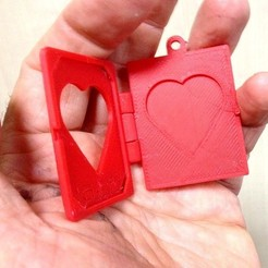 Free 3D printer designs Carte St Valentin, Etienne