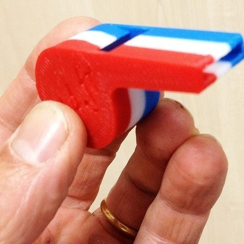 Free 3D printer file Whistle, Etienne