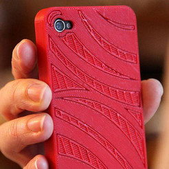 "Free 3d printer files Coque Iphone5 ""eau"", Etienne"