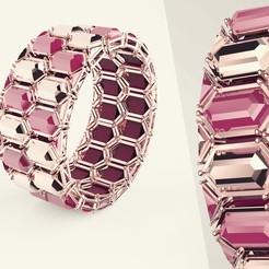 Download free STL modular necklace and bracelet, Othmane