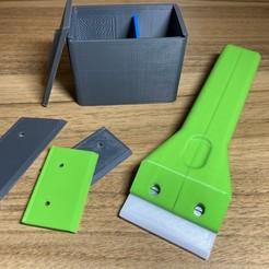 1.jpeg Download STL file Plastic razer blade scraper (spatula) • 3D print object, 3Dselzer