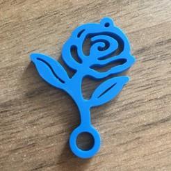 Rose_keychain.JPG Télécharger fichier STL Porte-clé en forme de rose • Modèle pour impression 3D, 3Dselzer