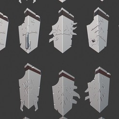 Download free STL file Ogre/Ogor Shields 28mm • 3D print object, Daedle