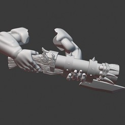Download free STL file Ogre or Ogor Blunderbuss arms • 3D printable template, Daedle
