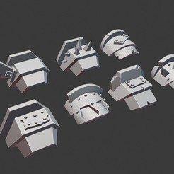 Download free STL file Ogre, Orc, Ork or Ogor shoulder armour • 3D printable template, Daedle