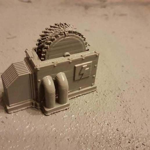 18589112_715628641931800_5726485175361025819_o.jpg Download free STL file Machine thingy terrain • 3D printable template, Daedle