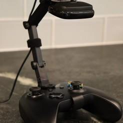 20200627054645_IMG_0059.jpg Download free STL file Xbox One Controller Webcam Mount for Streaming • 3D printer design, noycebru