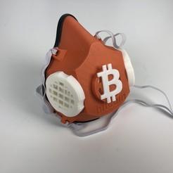 Descargar diseños 3D gratis BitMask (Bitcoin) / DigiMask (DigiByte) Máscara facial lavable/ reutilizable, jaredctate