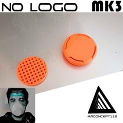 Download 3D printing templates NO-LOGO MK3 MODEL CORONAVIRUS - Only screw cap - without MASK - GLOBALDESIGN, mrconcept112