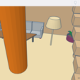 Download free 3D printing models house with furniture, buzz-blob