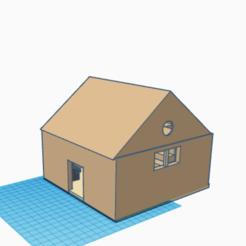 Télécharger fichier STL gratuit maison avec meuble • Modèle pour impression 3D, buzz-blob