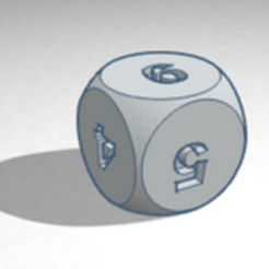 Download free 3D printing designs dice, buzz-blob