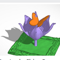 Télécharger objet 3D gratuit fleur papillon, buzz-blob