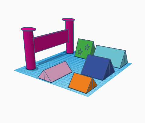 campement2.PNG Download free STL file camp • 3D printing object, buzz-blob
