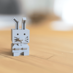 Download free 3D printer templates Cali Rabbit, _n3o_