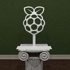 raspberry-Pi-Logo.jpg Télécharger fichier STL gratuit Logo Pi de la framboise • Plan pour impression 3D, AwesomeA