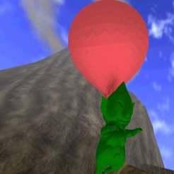 Tingle-Flying.jpg Download free STL file Legend of Zelda - Flying Tingle! • 3D printer design, AwesomeA