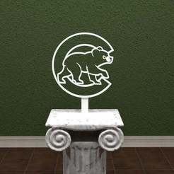 Download free 3D print files CUBS Logo, AwesomeA