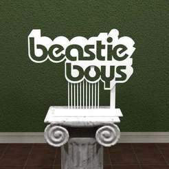 beastieboys_logo.jpg Download free STL file Beastie Boys Logo • Object to 3D print, AwesomeA
