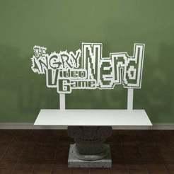Angry_Video_Game_Nerd.jpg Télécharger fichier STL gratuit Logo de l'intello du jeu vidéo en colère • Modèle imprimable en 3D, AwesomeA