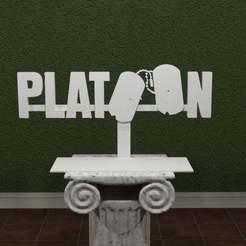 Download free 3D printer files Platoon Logo, AwesomeA