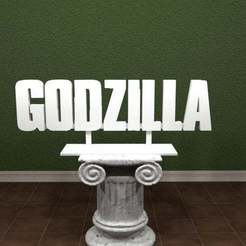 Download free 3D printer designs Godzilla Logo, AwesomeA