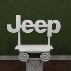 Descargar Modelos 3D para imprimir gratis Logotipo del Jeep, AwesomeA