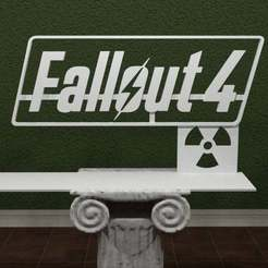 falllout4-logo.jpg Download free STL file Fallout 4 Logo • Model to 3D print, AwesomeA