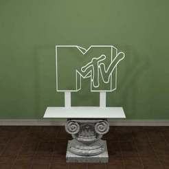 MTV-Logo.jpg Download free STL file MTV Logo • 3D print model, AwesomeA