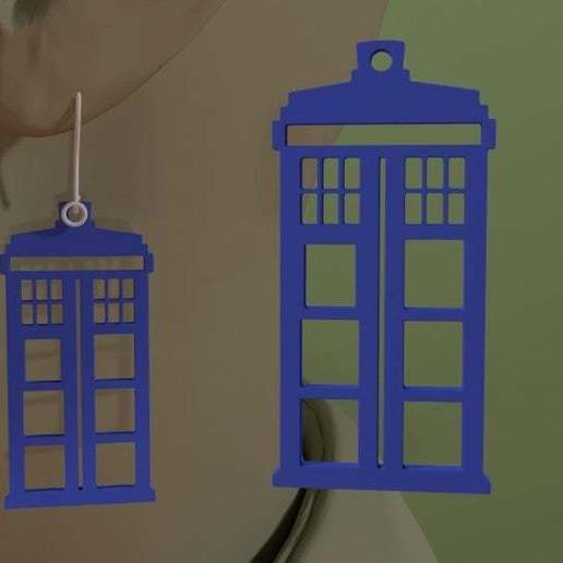 Download free 3D printing designs Doctor Who - Tardis Earring, AwesomeA