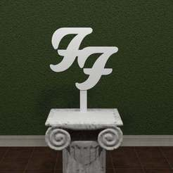 Foo-Fighter-Logo.jpg Download free STL file Foo Fighters Logo • 3D print design, AwesomeA