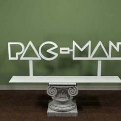 PacMan-Logo.jpg Télécharger fichier STL gratuit Logo PAC-MAN • Objet imprimable en 3D, AwesomeA