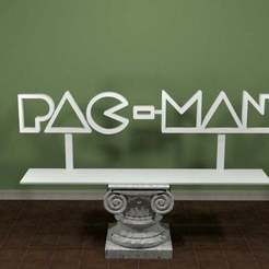 PacMan-Logo.jpg Download free STL file PAC-MAN Logo • 3D print template, AwesomeA