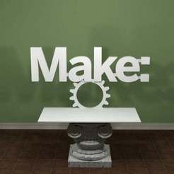 Make_Logo.jpg Download free STL file Make Magazine Logo • Object to 3D print, AwesomeA