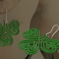 Celtic-Earring.jpg Download free STL file Celtic Clover Earrings. • 3D printing template, AwesomeA