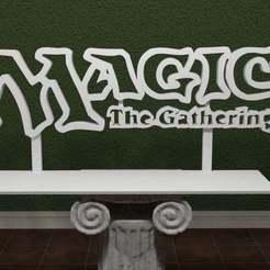 Magicthegathering.jpg Download free STL file Magic The Gathering - Logo • 3D print design, AwesomeA