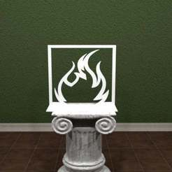 Descargar Modelos 3D para imprimir gratis Logotipo de Room On Fire, AwesomeA