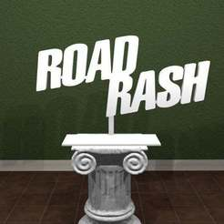 Descargar modelos 3D gratis Logotipo del sarpullido de la carretera, AwesomeA
