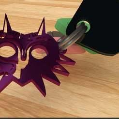 Majoras_Keychain.jpg Télécharger fichier STL gratuit Porte-clés du masque de Majora • Objet pour imprimante 3D, AwesomeA