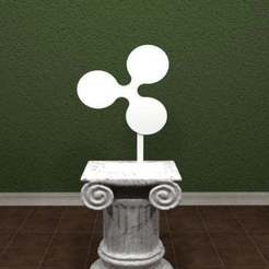 Download free STL files Ripple Logo, AwesomeA