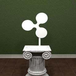 ripple.jpg Download free STL file Ripple Logo • 3D printable template, AwesomeA