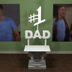 photo.png Download free STL file # 1 Dad • 3D printable template, AwesomeA