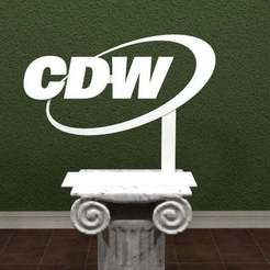 Download free 3D printer templates CDW Logo, AwesomeA