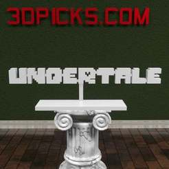 Download free 3D printer designs Undertale Logo, AwesomeA