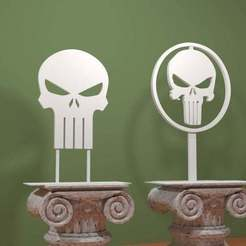 Punisher_Logo.jpg Download free STL file The Punisher - Logo • 3D printing object, AwesomeA